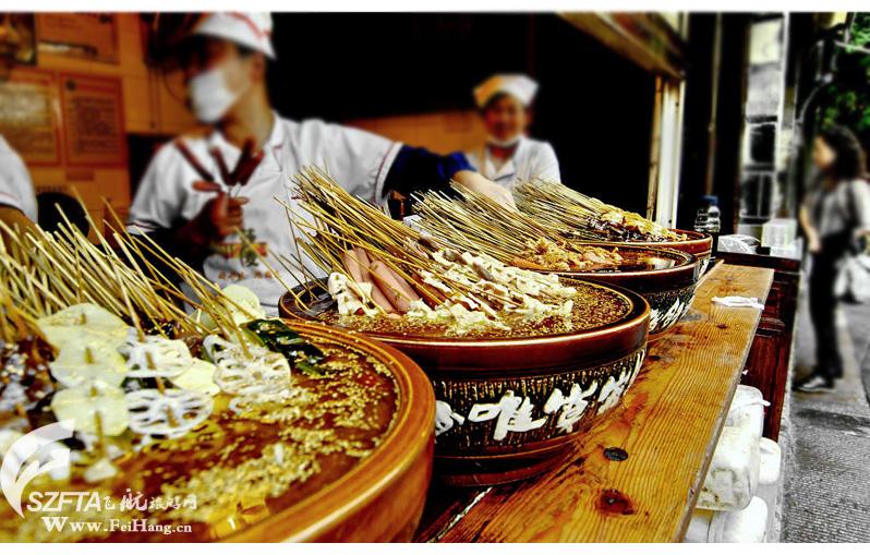 成都锦里小吃冷串串图片