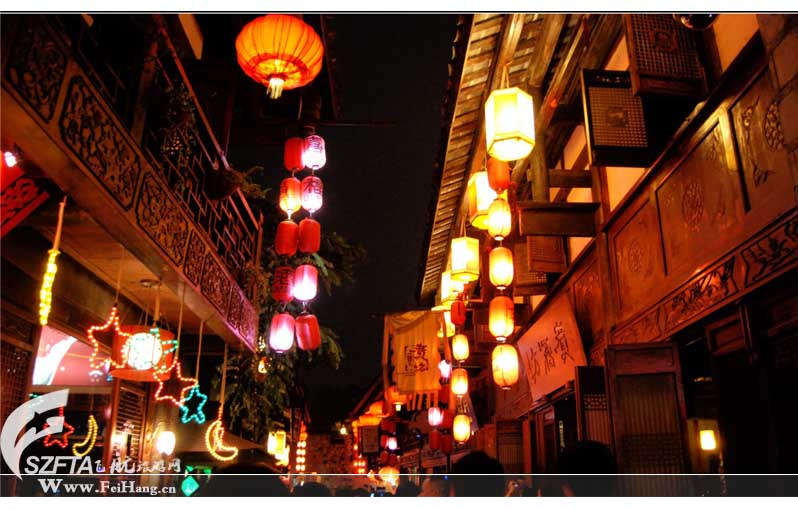 成都锦里古街夜景