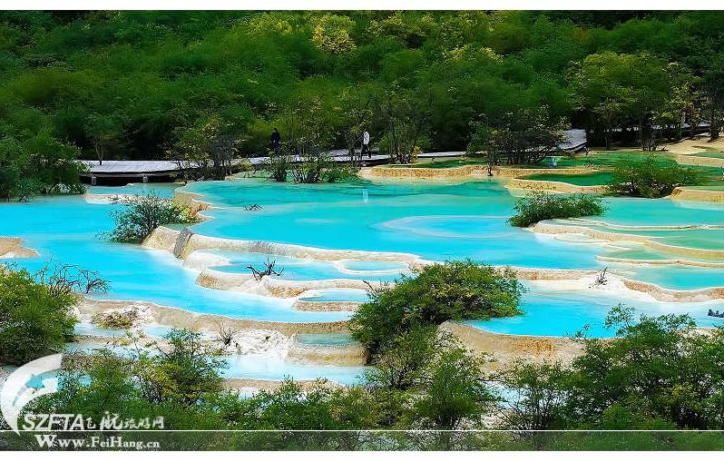 黄龙沟彩池