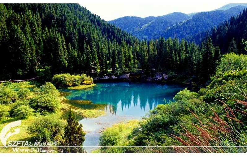 牟尼沟大海子湖泊