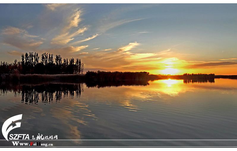 纳林湖夕阳