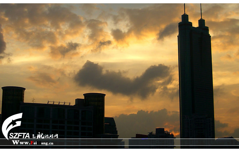 地王大厦日落前